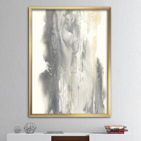 Designart 'Gold Glamour Direction II' Modern & Contemporary Framed Art Print