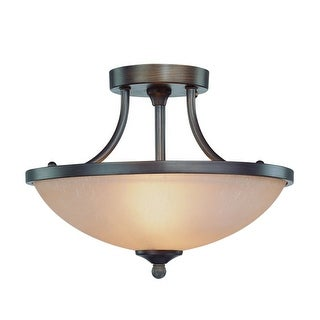Craftmade 26122 2 Light Semi-Flush Fixture from the Spencer Collection