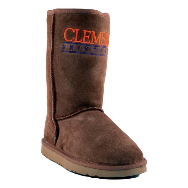 Gameday Boots Womens Clemson Pull-on Sheepskin Embroidery CL-RL1050-1