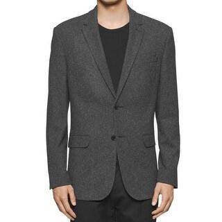CALVIN KLEIN NEW Tornado Gray Mens Size 2XL Two Button Textured Blazer