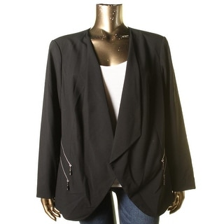 Vince Camuto Womens Plus Long Sleeves Open Front Blazer