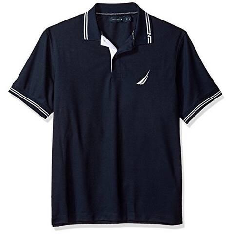 Nautica Mens Short Sleeve Tech Polo