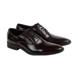 Calvin Klein Radley Brush Off Smooth Mens Burgundy Casual Dress Shoes