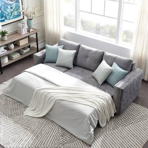 TiramisuBest Reversible Sleeper Sectional Storage Sofa Bed w/ storage