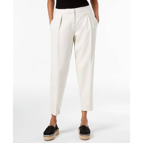 Eileen Fisher Women's Pleated Tencel Ankle Pants, White, 8