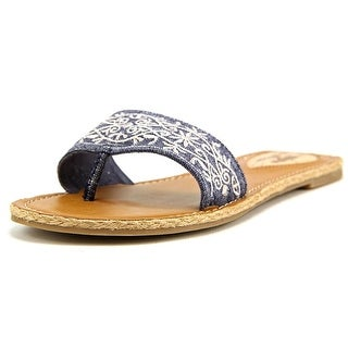 Rocket Dog Fajita Women Open Toe Canvas Blue Thong Sandal