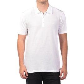Versace Collection Men's Soft Cotton Polo Shirt White