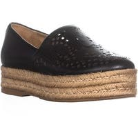 naturalizer Thea Perforated Platform Espadrilles, Black
