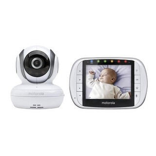 "Motorola MBP36S Remote Wireless Video Baby Monitor w/ 3.5"" LCD Screen"
