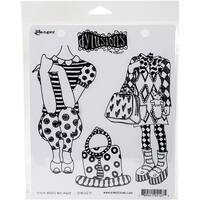 "Dyan Reaveley's Dylusions Cling Stamp Collections 8.5""X7""-These Boots Are Made..."