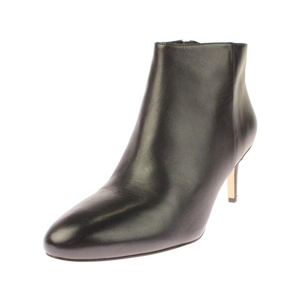 Via Spiga Womens Aurora Ankle Boots Solid Almond Toe