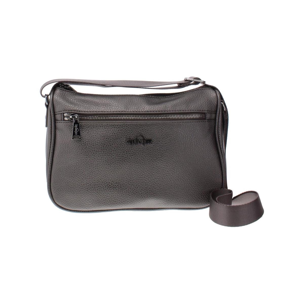Kipling Womens Callie Crossbody Handbag Faux Leather Shimmer Small