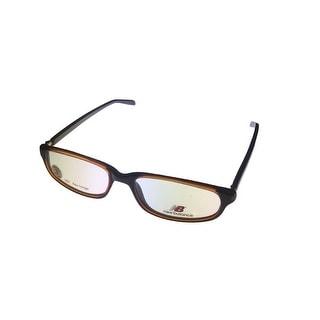 New Balance Mens Opthalmic Eyeglass Plastic Frame #361 1 Brown - Medium