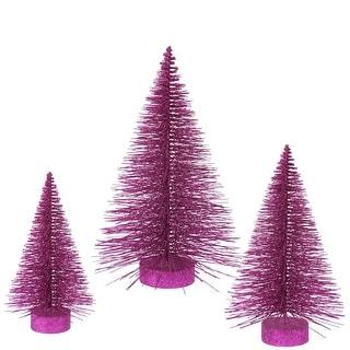 """16""""-20""""-24"""" Magenta Glit Fat Tree Set"""