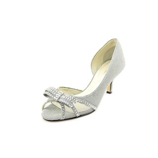 Caparros Kenzo Women Open-Toe Canvas Silver Heels