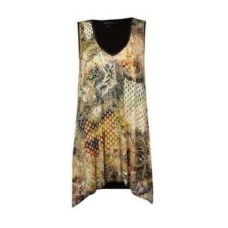 Karen Kane Women's Sleeveless Knit Canyon Print Tank Top - Brown