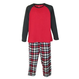 Hanes Mens Big & Tall Cotton Long Sleeve Shirt and Flannel Pajama Pants