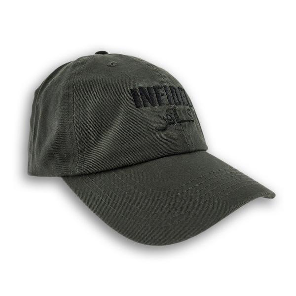 Shop Olive Green INFIDEL Adjustable Baseball Cap Patriotic Hat ... cef8a1bbc