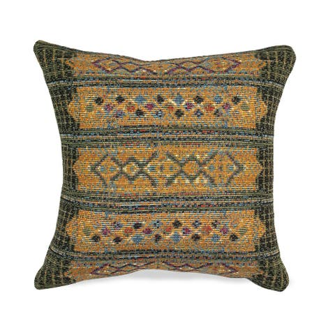 Liora Manne Marina Tribal Stripe Indoor/Outdoor Pillow Green