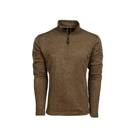 StS Ranchwear Western Sweatshirt Mens Quarter Zip Brown