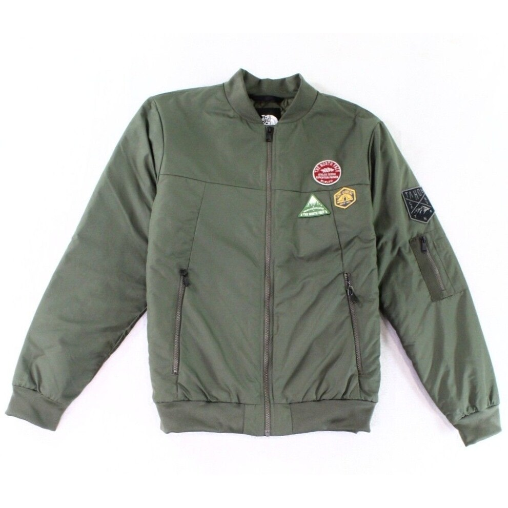 great deals 2017 authentic discount collection The North Face Green Mens Large L Embroidered Patch Bomber Jacket