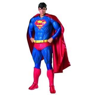 Superman Vinyl Adult Costume Wig - Black