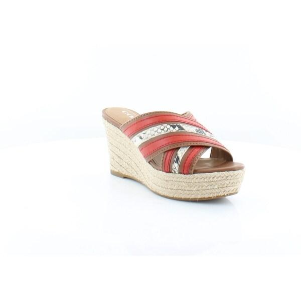 Coach Florentine Women's Sandals Saddle/ Carmine
