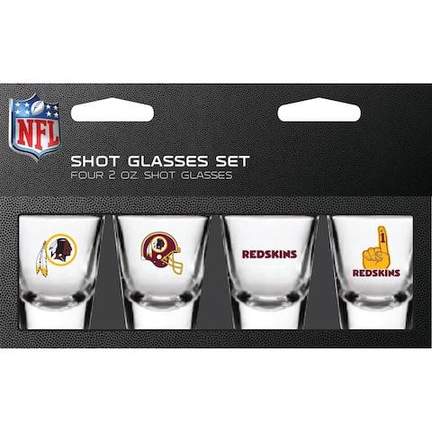 Washington Redskins Shot Glass 2oz 4 Pack