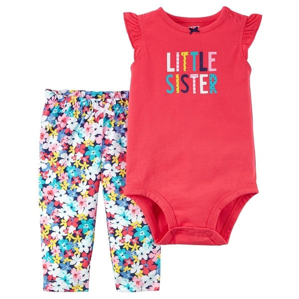 a1d95c00f Shop Carter's Baby Girls' 2-Piece Bodysuit Pant Set, 12 Months - 12 Months  - Free Shipping On Orders Over $45 - Overstock - 25774194