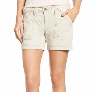 Jag Jeans NEW Beige Women's Size 4 Patch Pocket Cuffed Casual Shorts