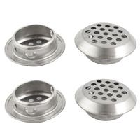 Unique Bargains 4 Pcs Stainless Steel 25mm Bottom Dia Round Perforated Mesh Air Vents Louvers
