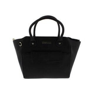 Kenneth Cole Reaction Womens Maria Satchel Handbag Faux Leather Contrast Trim - LARGE