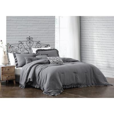 Davina 5 - 6 pc Comforter Set with Sham and 3 Decorative Pillows