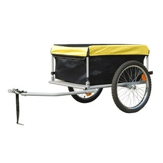 vidaXL Bike Trailer with Cover 4.9 Cubic Feet