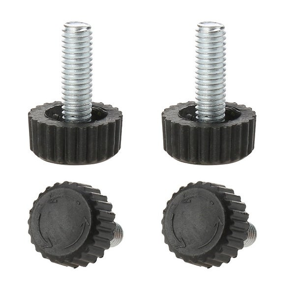 M6 x 18 x 18mm Hand Screw Furniture Glide Leveling Feet Adjustable Height Leveler Floor Protector for Home Furniture Legs 4pcs