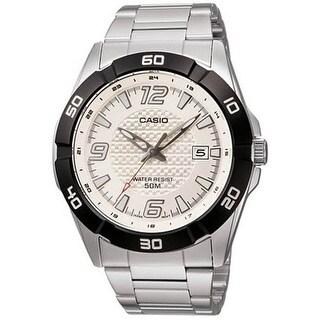 Casio Men's Core MTP1292D-7AV Silver Stainless-Steel Quartz Dress Watch