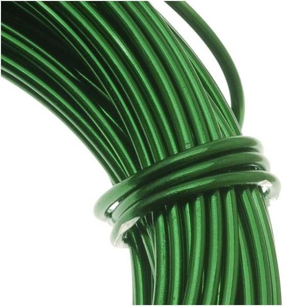 Aluminum Craft Wire Kelly Green 18 Gauge 39 Feet (11.8 Meters)