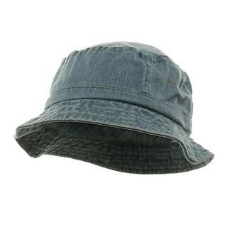 Pigment Dyed Bucket Hat-Denim