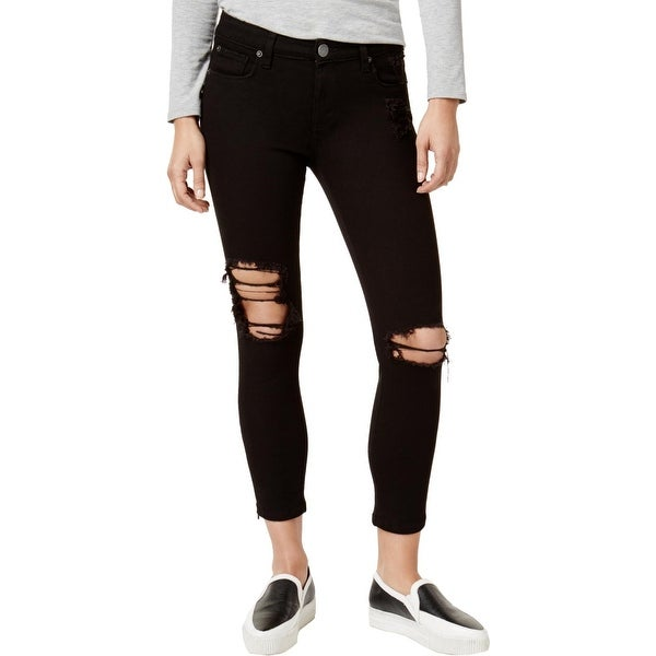 3b496d720a072 Shop STS Blue Womens Juniors Emma Skinny Jeans Destroyed Cropped ...