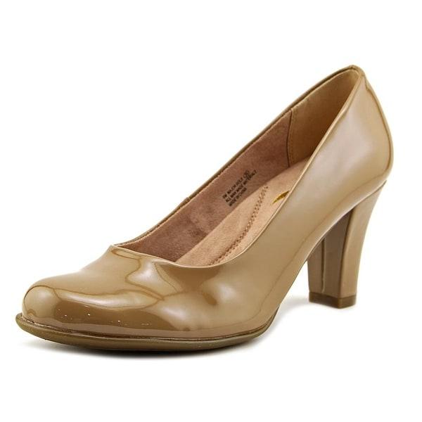 Aerosoles Major Role Women Round Toe Patent Leather Tan Heels