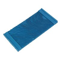 MS11 Household Wall Art Paint Rubber Wood Graining DIY Tool 15cmx7.2cm Blue