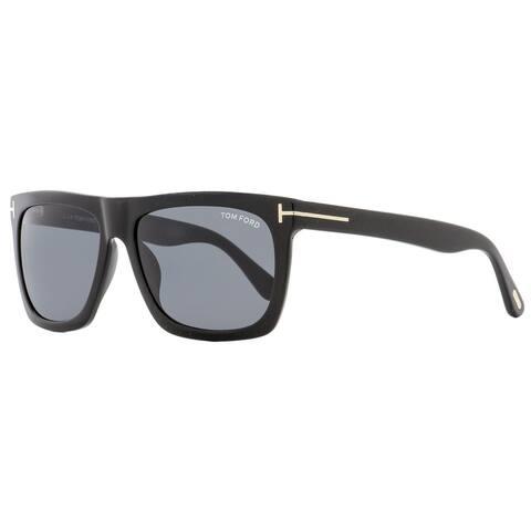 Tom Ford TF513 Morgan 01A Womens Shiny Black 57 mm Sunglasses - Shiny Black