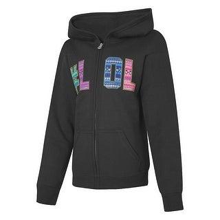 Hanes EcoSmart Girls' #LOL Full-Zip Hoodie Sweatshirt - S