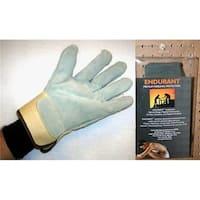 Freezer Fit Split Leather Palm Gloves, Black - Large