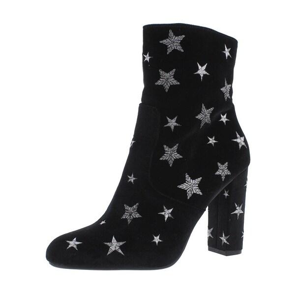 Steve Madden Womens Edit-S Ankle Boots Velvet Embroidered