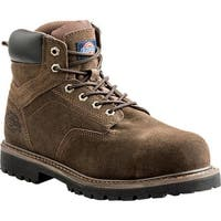 "Dickies Men's Prowler 6"" Steel Toe Work Boot Brown Suede"