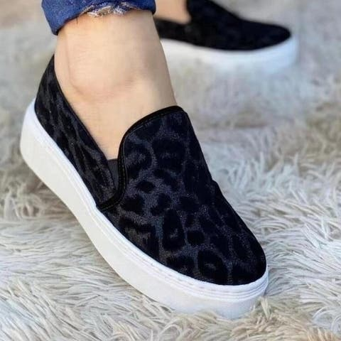Canvas Slip On Casual Flat Shoes