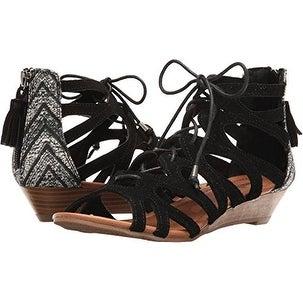 Minnetonka Womens Merida III Suede Open Toe Casual Strappy Sandals