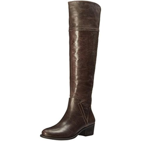 Vince Camuto Womens Bendra Over-The-Knee Boots Distressed Braided