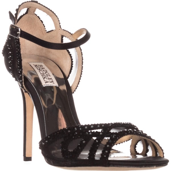 Badgley Mischka Tansy Ankle-Strap Evening Sandals, Black - 6.5 us
